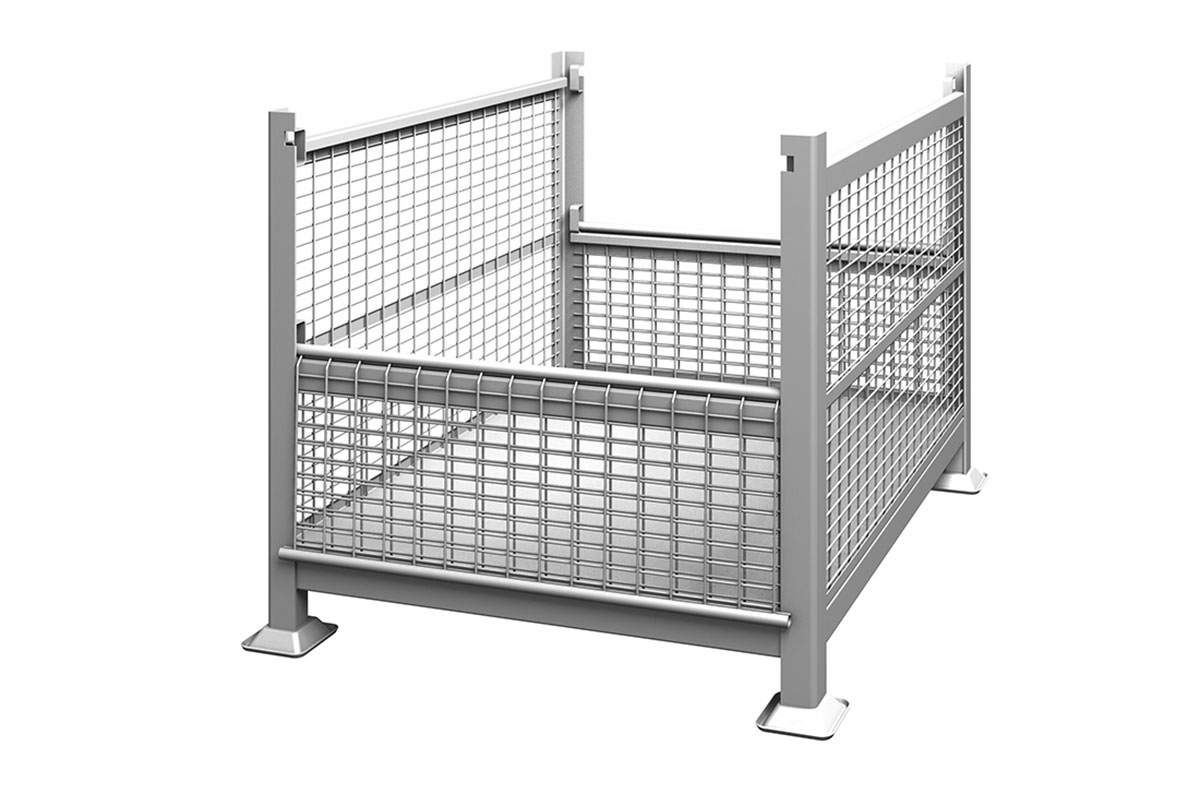 Rigid Wire Container Dual Drop Gate 2