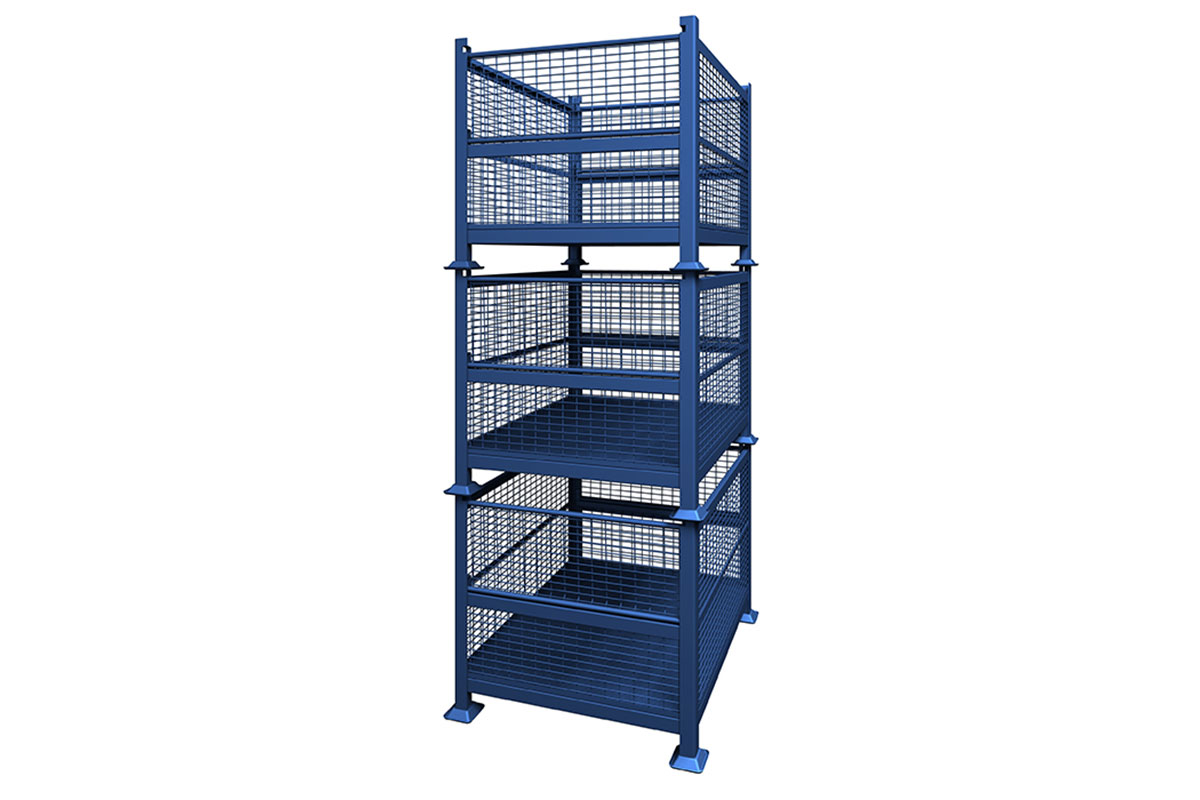 Rigid Wire Container Dual Drop Gate 3
