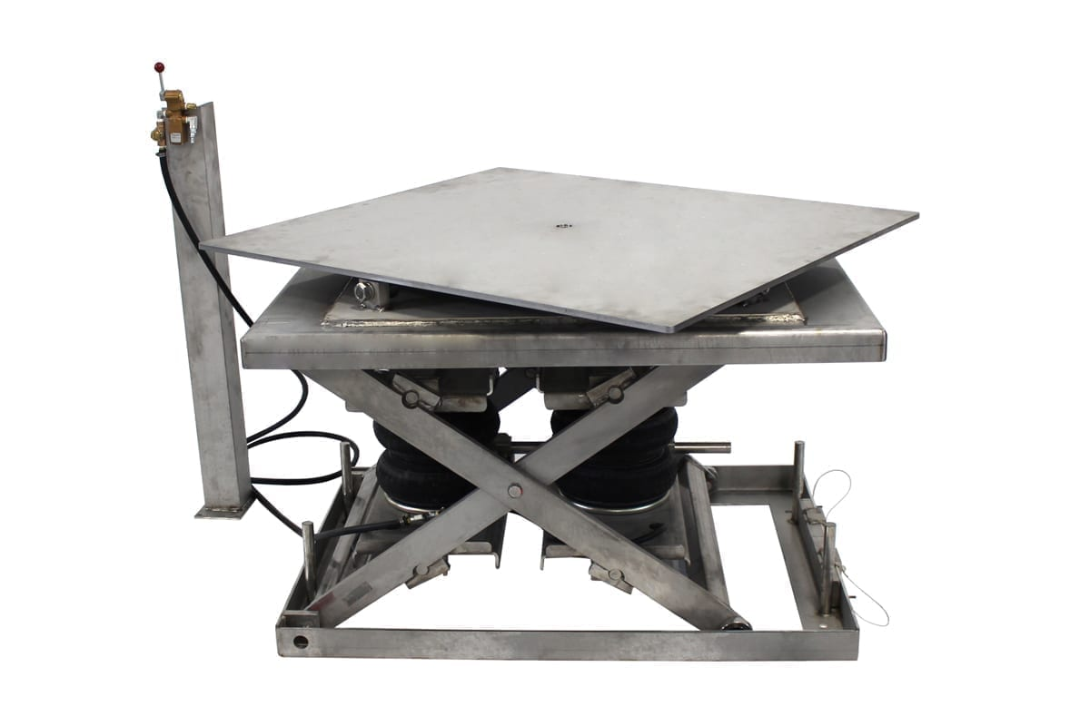STAINLESS PNEUMATIC SWIVEL LIFT TABLE 1