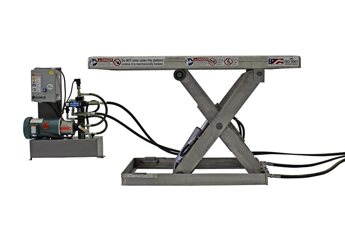 6. Stainless Electric Hydraulic lift table