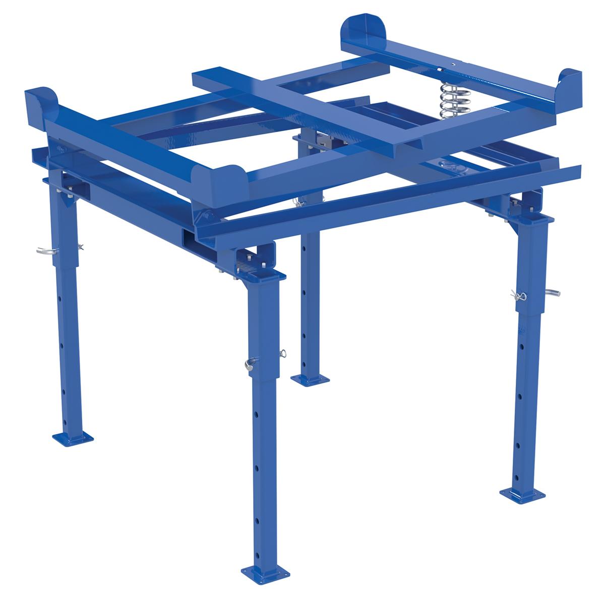 Vestil Adjustable IBC Tilt Stand w/ Fork Pockets 2