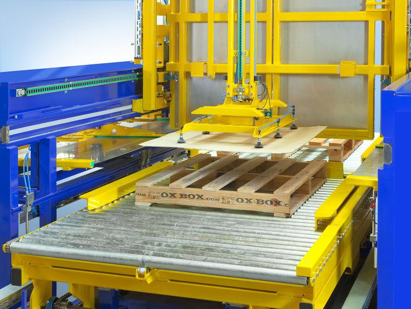 Slip Sheet Integration Into Conveyor System