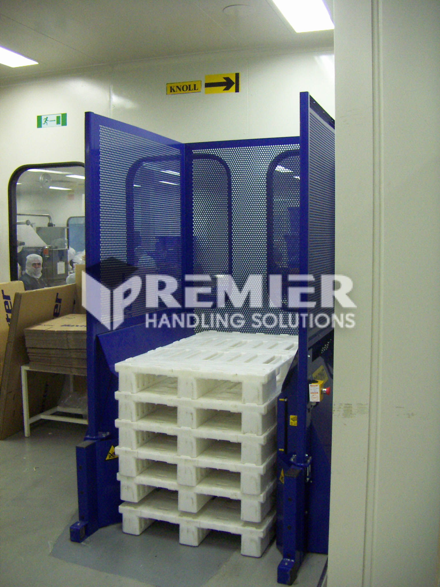 Plastic Block Pallet Dispenser