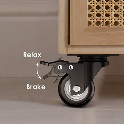 2 inch Swivel Caster Wheels, Heavy Duty Plate Casters 4