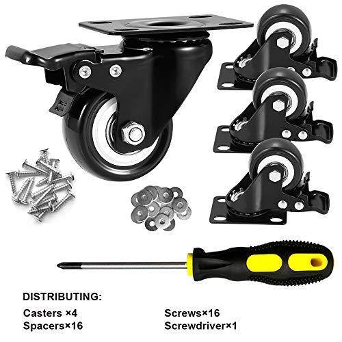 "ASHGOOB 2"" Caster Wheels Set of 4 2"