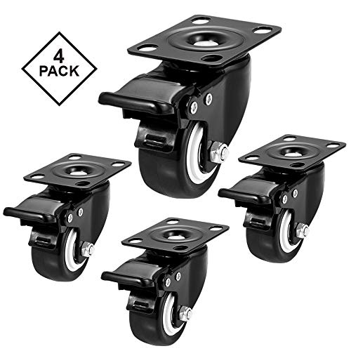 """CLOATFET Caster Wheels, 2"""" Casters with Brake 4"""