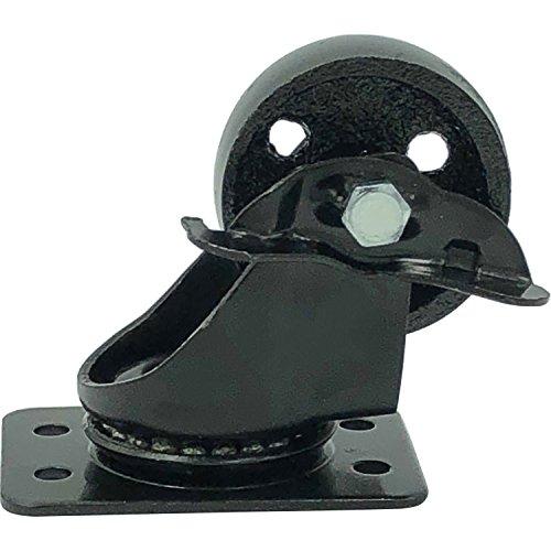 FactorDuty 4 All Black Metal Swivel Plate Caster Wheels 3
