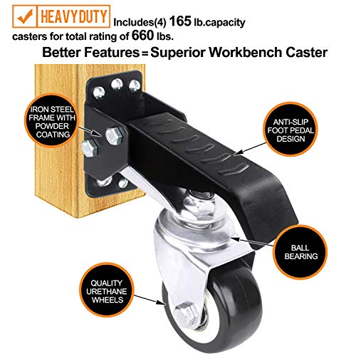 SOLEJAZZ Workbench Caster kit 660 LBS 2