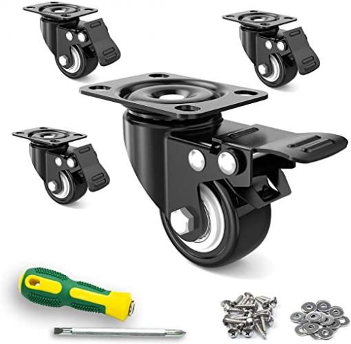 """2"""" Caster Wheels, Set of 4, Heavy Duty"""