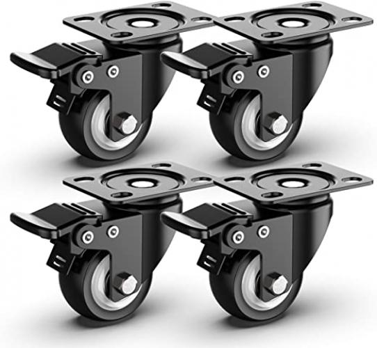 2 inch Swivel Caster Wheels, Heavy Duty Plate Casters