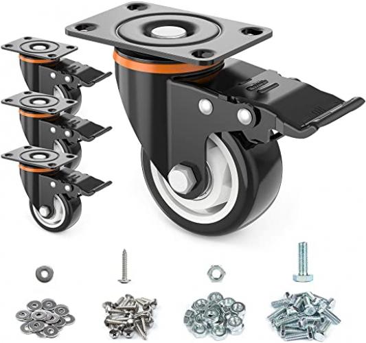 """3"""" Caster Wheels, Set of 4,Heavy Duty"""