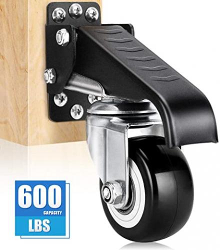 DOZAWA Workbench Stepdown Caster, 600 Lbs Set